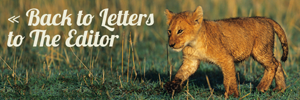 Return to Letters to The Editor